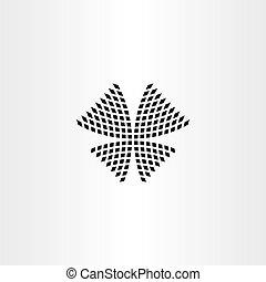 lepke, jelkép, vektor, halftone, ikon