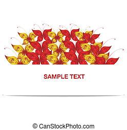 lepke, transzparens, piros sárga