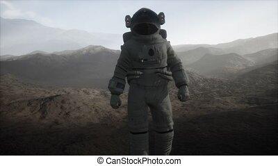 leporol, másik, bolygó, űrhajós, köd