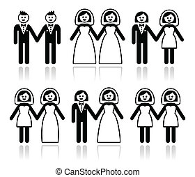 leszbikus, esküvő, buzi