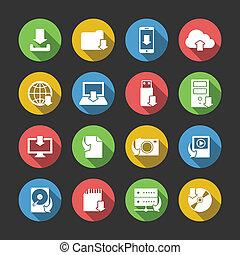 letölt, jelkép, állhatatos, internet icons