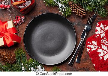 letesz asztal, karácsony