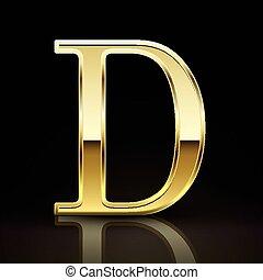 levél, arany-, finom, átmérő, 3