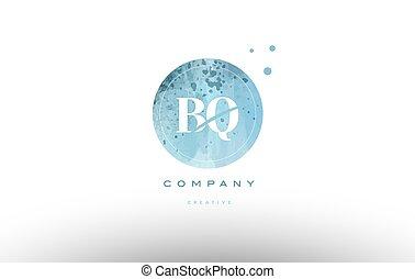 levél, bq, q, vízfestmény, jel, grunge, abc, szüret, b betű