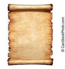 levél, dolgozat, öreg, pergament, háttér