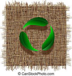 levél növényen, újra hasznosít jelkép