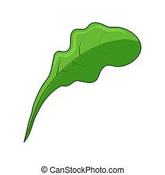 levél növényen, elszigetelt, tervezés, háttér, növényi, fehér, ikon