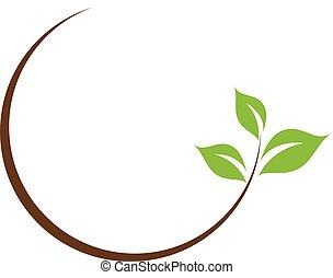 levél növényen, jel, szerves