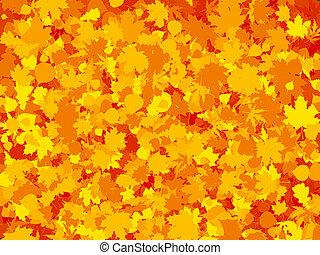 levél növényen, színes, eps, ősz, háttér., meleg, 8