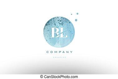 levél, vízfestmény, b betű, l, jel, grunge, abc, szüret, bl