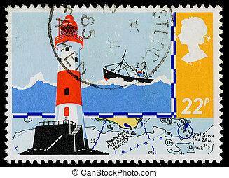 levélbélyeg, britain, biztonság, tenger