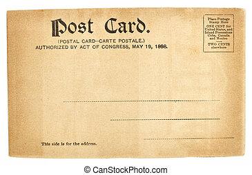 levelezőlap, egyesült államok, egyesült, öreg, köszönés