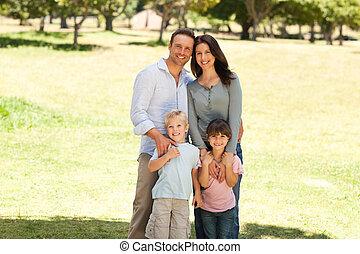 liget, család portré