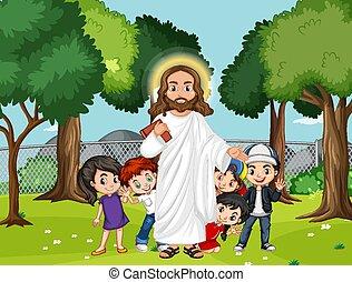 liget, jézus, gyerekek