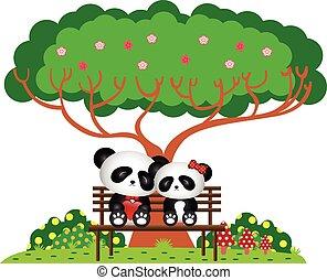 liget, panda, ülés