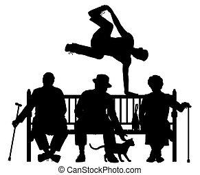 liget, parkour, bírói szék