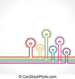 light-bulb, színes, háttér