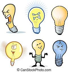 lightbulb, állhatatos, ember