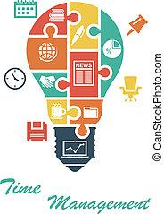 lightbulb, alakít, ügy, infographics