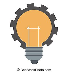 lightbulb, bekapcsol, ikon