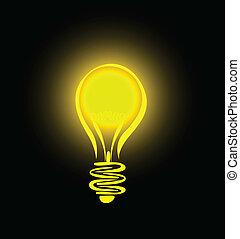 lightbulb, függő