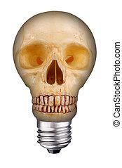 lightbulb, koponya