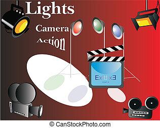 lights.., action..., fényképezőgép