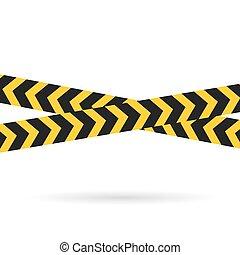 lines-, vektor, figyelmeztet, ábra, keresztbe tett