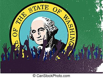 lobogó, állam, washington, kihallgatás
