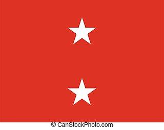lobogó, alakulat, tengeri, két, egyesült, általános, őrnagy, csillag, egyesült államok