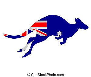 lobogó, ausztrália, kenguru