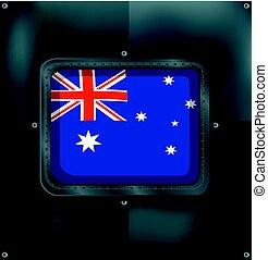 lobogó, ausztrália, metalic, háttér