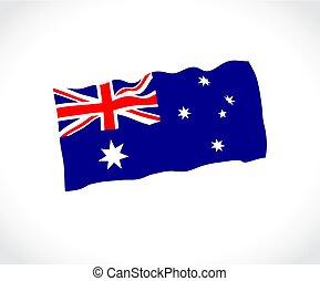 lobogó, ausztrália, white háttér