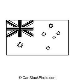 lobogó, ausztrália, white háttér, nemzeti
