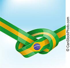 lobogó, brazília, háttér, szalag