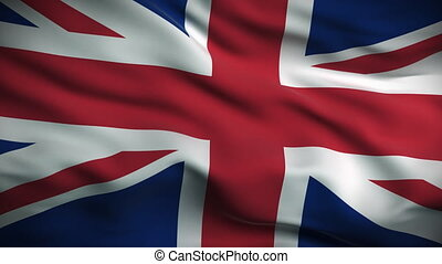 lobogó, brit, looped., hd.