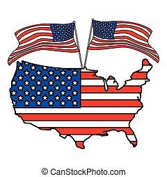 lobogó, egyesült, fehér, egyesült államok, térkép háttér