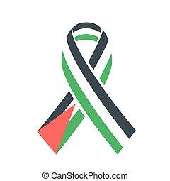 lobogó, emberek, ikon, szolidaritás, palesztin