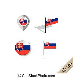 lobogó, faszegek, térkép, slovakia