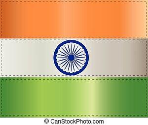 lobogó, fehér, india, háttér, ábra