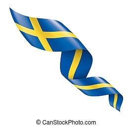 lobogó, fehér, svédország, háttér