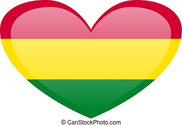 lobogó, flag., bolívia, háttér, texture., hullámzás, nemzeti