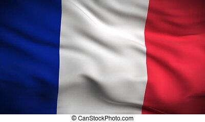 lobogó, francia, looped., hd.