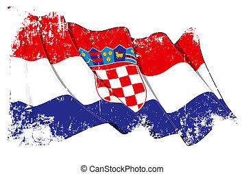 lobogó, grunge, horvát