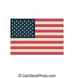 lobogó, háttér, egyesült, fehér, egyesült államok