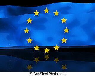 lobogó, háttér, európai