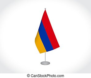 lobogó, háttér, fehér, örményország