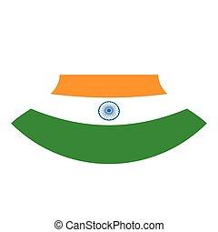 lobogó, háttér, fehér, india