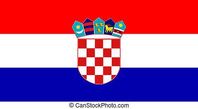 lobogó, horvátország