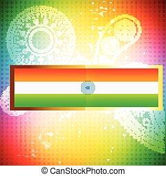 lobogó, indiai, háttér